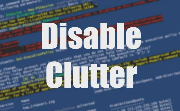 Disable the Clutter folder with PowerShell